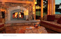Stone Fireplace - HVAC Service Spokane