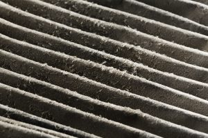 Dirty furnace air filter